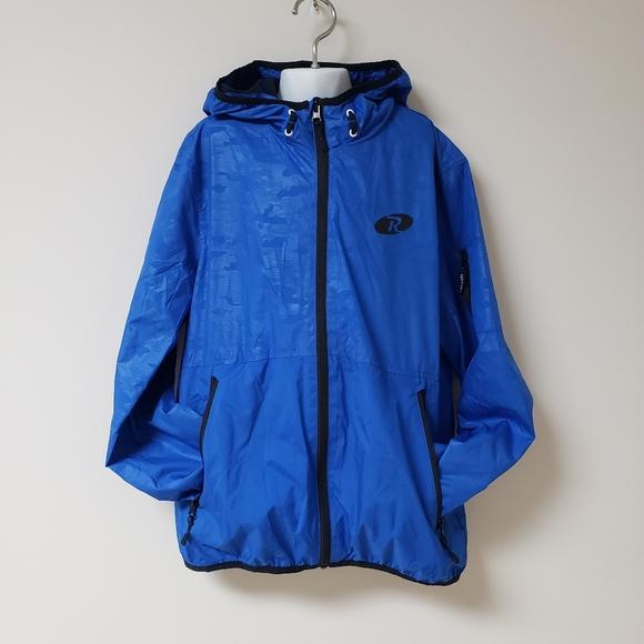 Rokka/&Rolla Boys Lightweight Water Resistant Zip-Up Hooded Windbreaker Jacket